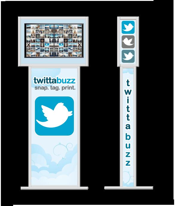 twitter kiosk photo station