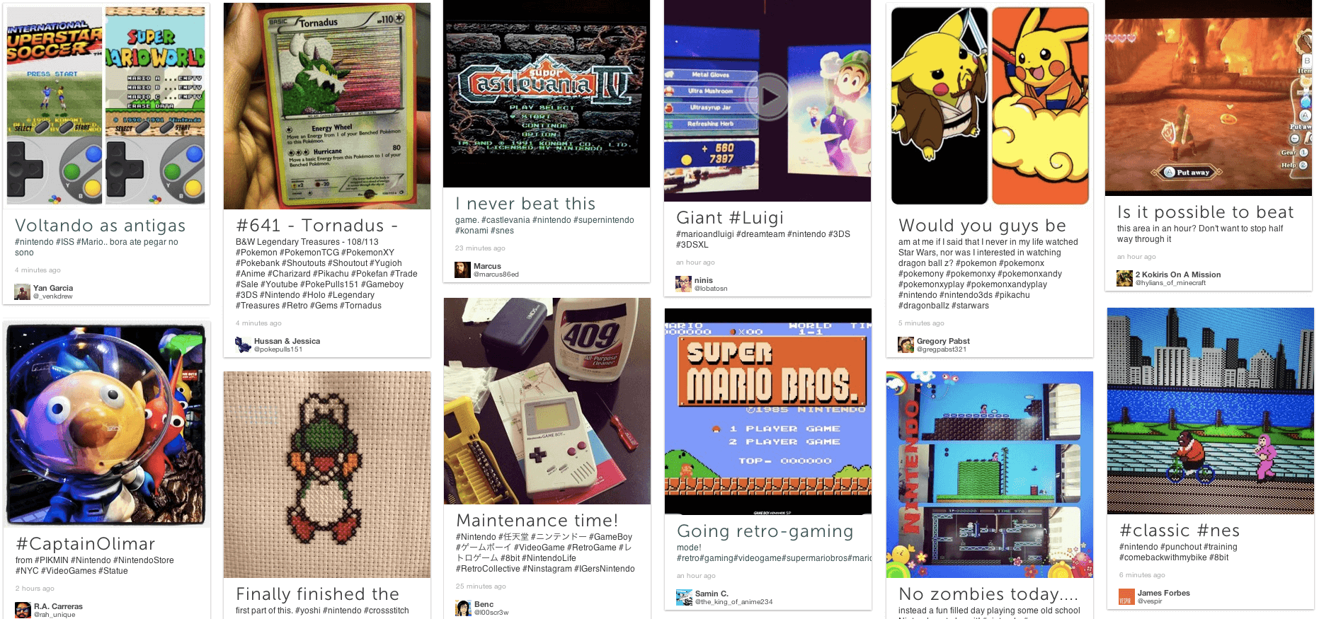 nintendo social media display
