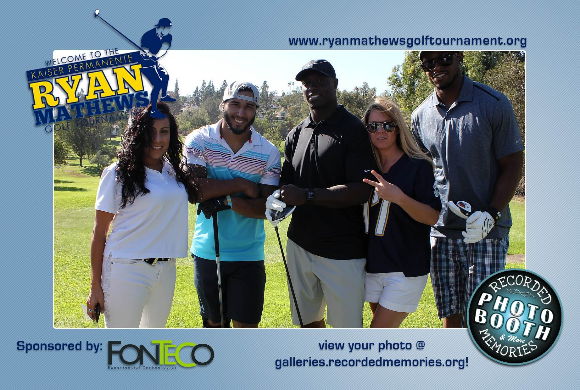 Ryan Matthews Golf Tournament Photo Booth