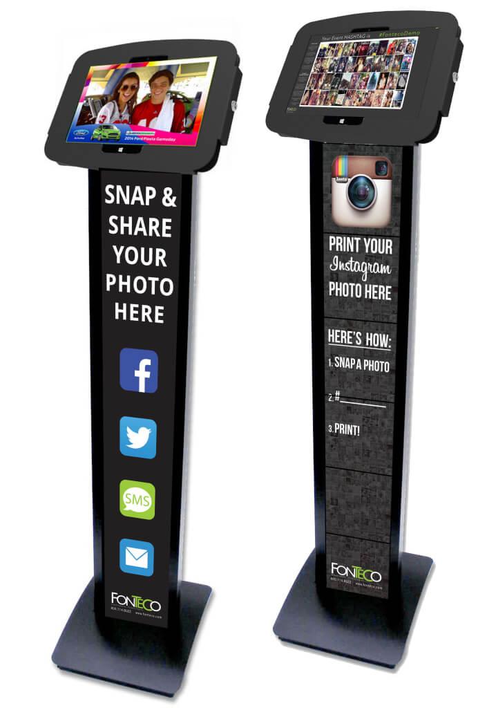 Tablet photo kiosk stations