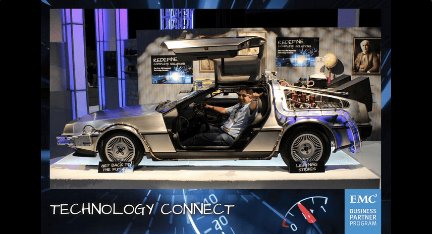 Delorean photo kiosk booth emc
