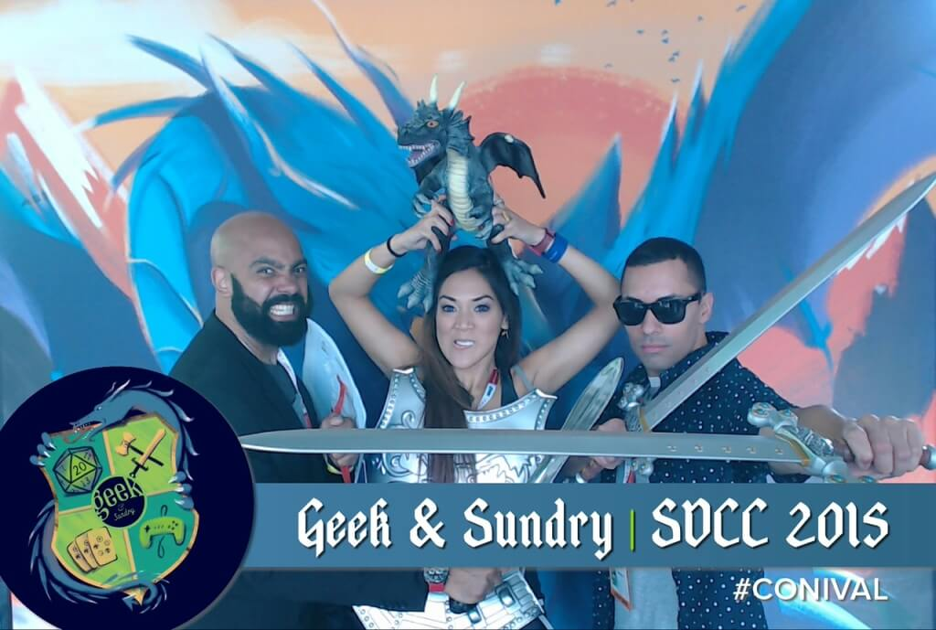 geek sundry photo booth conival comic con 2015