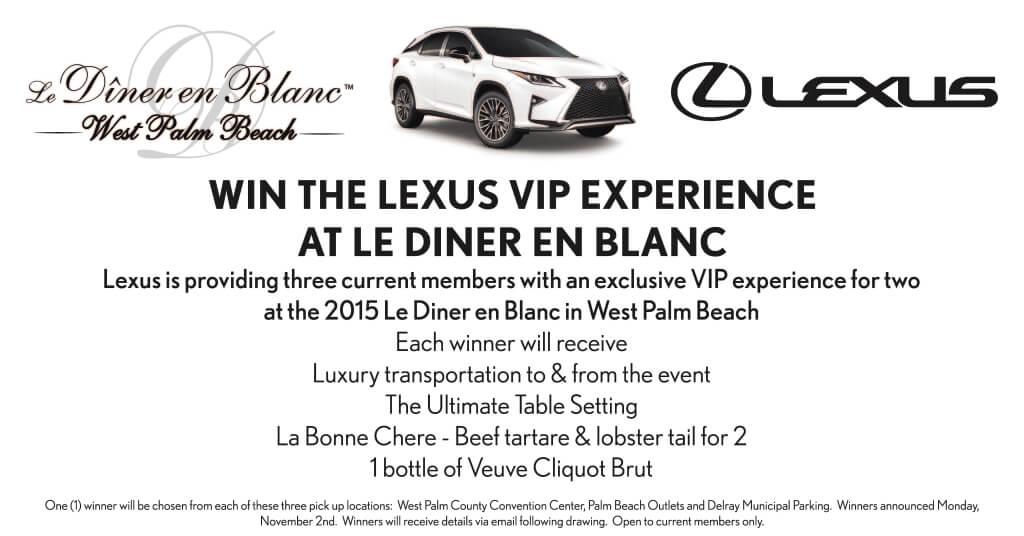 Le Diner en Blanc Lexus Giveaway