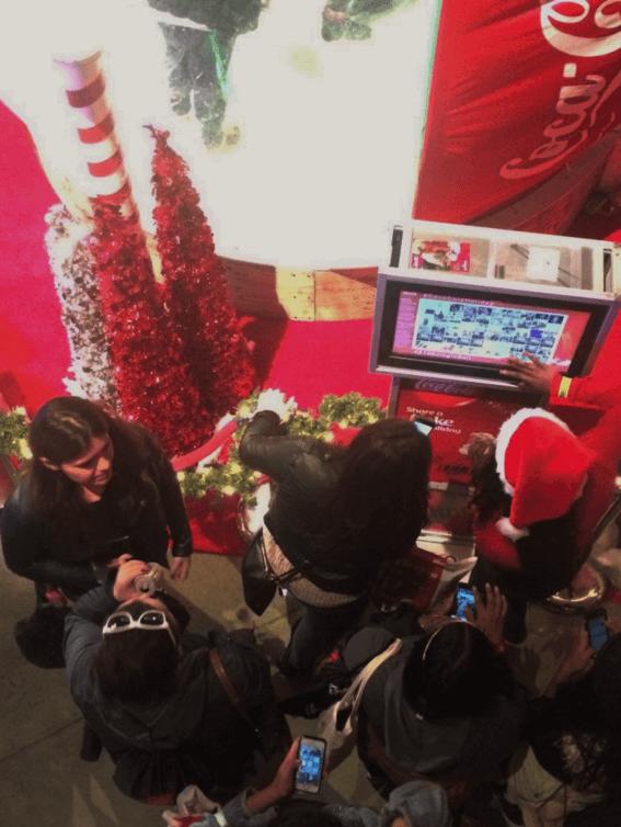 Coca Cola Holiday InstaBuzz Kiosk