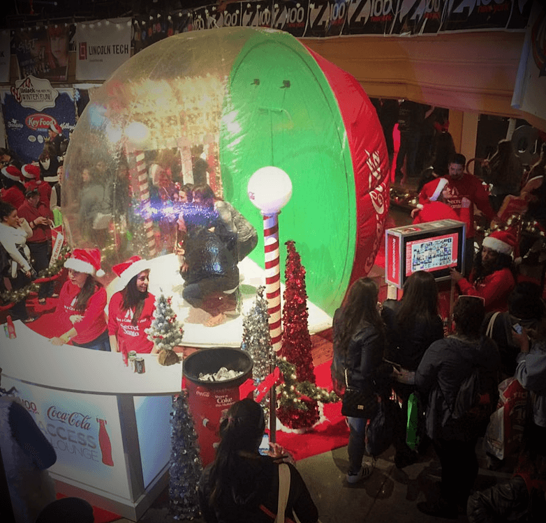 Jingle Ball Snow Globe Kiosks