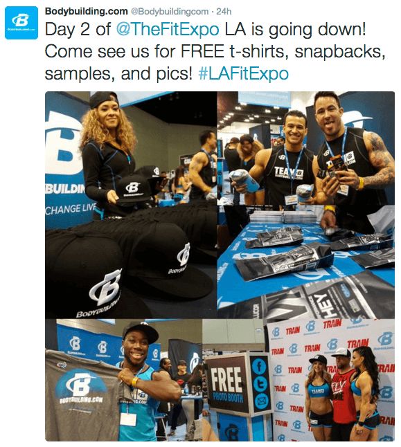 bodybuilding la fit expo photo booth