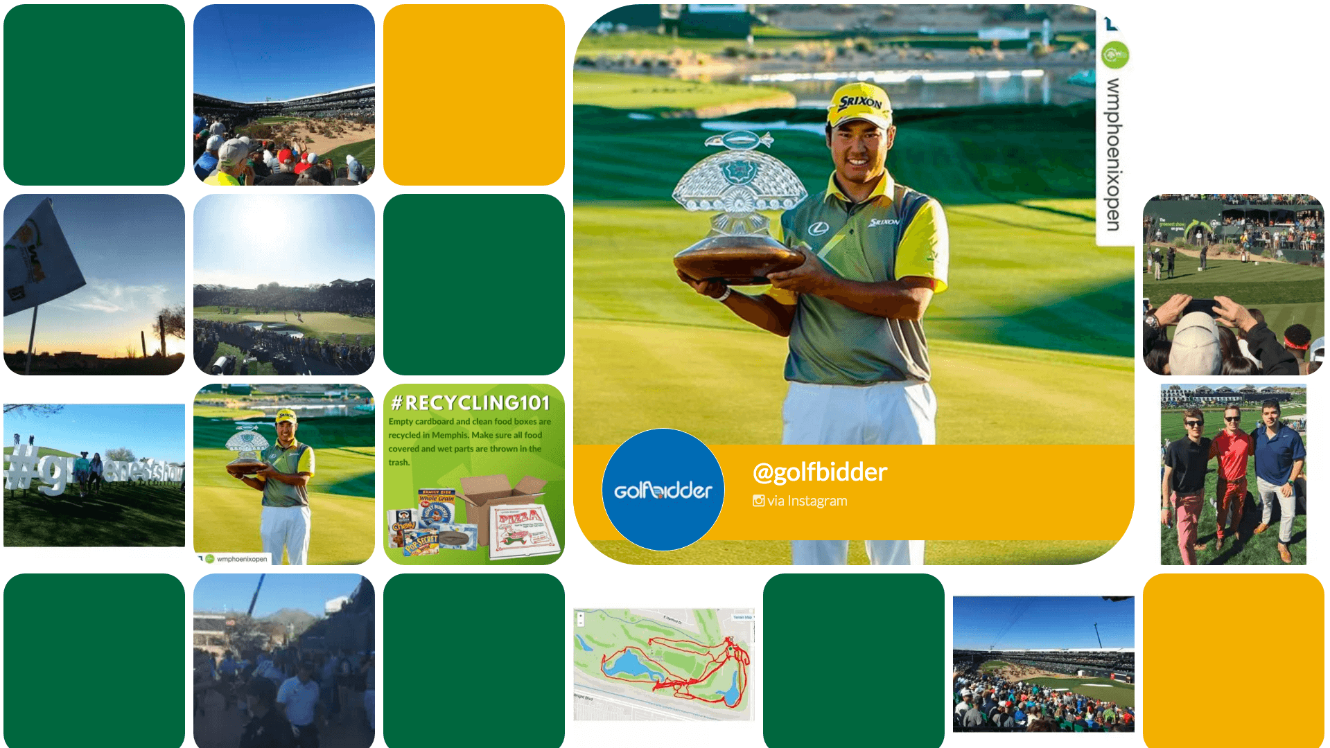 instagram twitter display wall phoenix open
