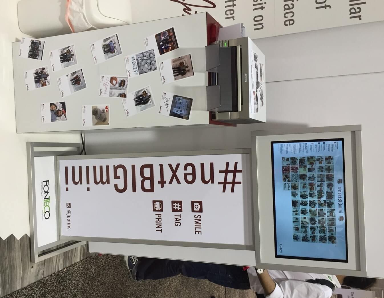 instagram photo booth hashtag printer