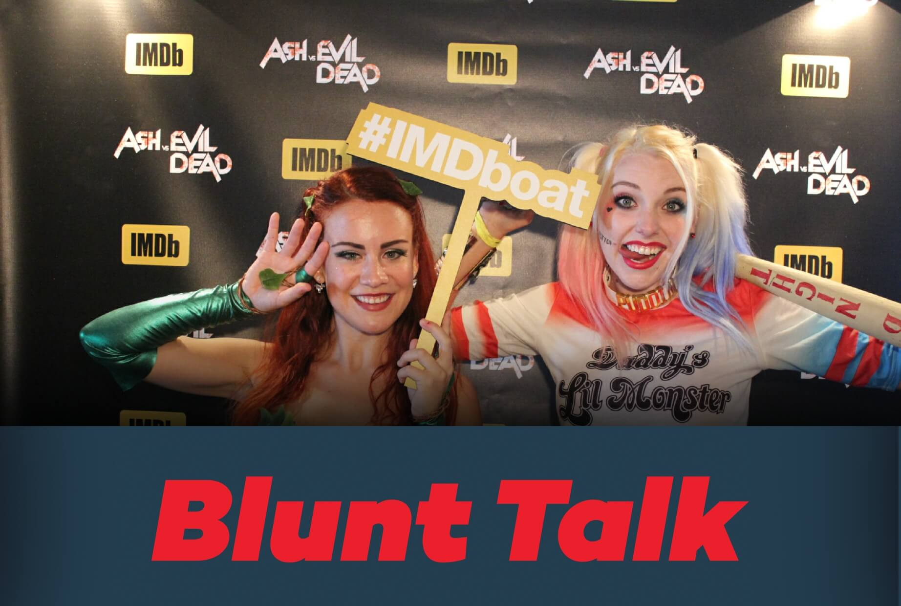 Comic Con Blunt Talk Photo Booth