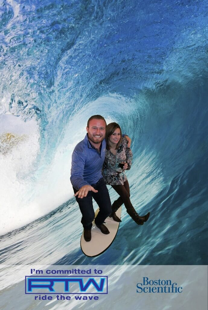 green screen wave surfing photo booth