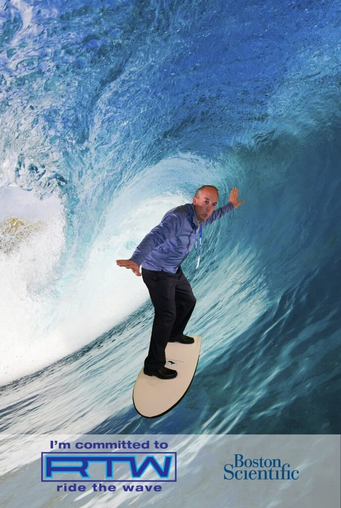 green screen surfing photo booth