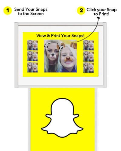Snapchat Print Station Screen